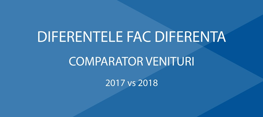 Diferentele fac diferenta - Comparator Venituri - 2017 vs 2018
